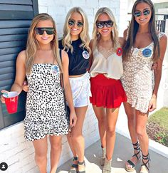this sorority college game day outfits are so cute! College Girls, Cute College Outfits, College Girl Fashion, College Game Days, College Girl Style, College Life, College Football, School Outfits, Rush Outfits