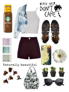 """""""Newport beach outfit ♥♥ ;)"""" by loverofeverything8infinite ❤ liked on Polyvore featuring Forever 21, Topshop, MANGO, River Island, Casetify, Holga, H&M and Opening Ceremony"""