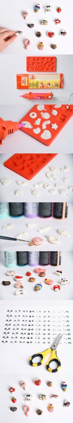 How to make your own homemade Shopkins using just glue sticks, a silicone mold, and craft paint! Super fun and cheap way to have realistic looking Shopkins! Use your Cricut Explore to Print then Cut the eyes, then create the homemade Shopkins with a Mod Melts or regular inexpensive glue gun!