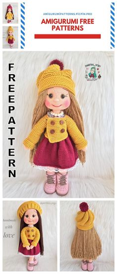 We continue to provide you with the latest recipes related to Amigurumi. Amigurumi doll zühre free crochet pattern is waiting for you. Crochet Dolls Free Patterns, Crochet Doll Pattern, Amigurumi Patterns, Crochet Toys, Free Crochet, Knitting Patterns, Knitting Bags, Bear Patterns, Amigurumi Animals