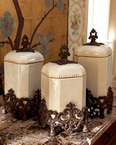 Canisters by GG Collection at Horchow. OMG! I have these in my kitchen and I love them.