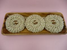 BOWL FILLERS Round Flower Pillows  Set of 3 by CraftCreationsEtsy