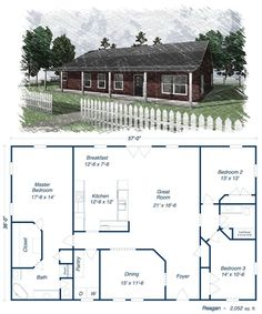 Reagan metal house kit steel home ****could make this work**** YES!!!!!