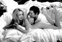 Brigitte Bardot and Maurice Ronet in  Les Femmes, 1969