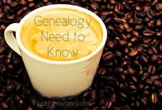 8 #Genealogy Things You Need to Know Today, Friday, 13 June 2014, via 4YourFamilyStory.com. #needtoknow #familytree