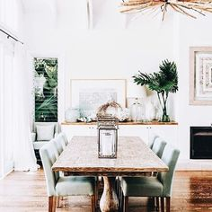 My Dream Dining Room Design Board. Check out this board for a gorgeous modern coastal dining room design plan for your inspiration! Tropical Home Decor, Tropical Furniture, Tropical Interior, Coastal Furniture, Tropical Homes, Tropical Kitchen, Beach Furniture, Coastal Interior, Cottage Furniture