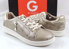 Women's Shoes G by Guess BRIONI 2 Fashion Lace Up Sneakers Gold Multi Size 9.5 #GUESS #Fashionsneakers