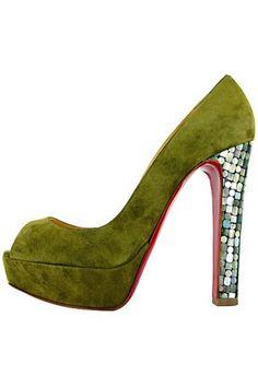 Christian Laboutin. Love the MOP heels.