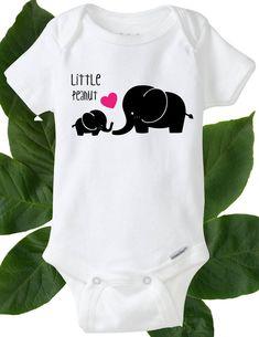 Baby Onesie Bodysuit - Little Peanut Elephant Baby Onesie Baby Girl by DIYmoreDesigns on Etsy https://www.etsy.com/listing/519334107/baby-onesie-bodysuit-little-peanut