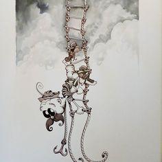 Inktober day 27 - Climb - #inktober #inktober2017 #inktoberday27 #inktoberprompts #ink #penandink #brushandink #brushpen #copic #bmitchleyart #koibrushpen #climb #character #comic #southafricanartist #southafrican #southafrica #artist #artistoninstagram #art #illustration #dailysketch #drawingink #moustache #climbing #ladder #climber #cartoon South African Artists, Brush Pen, Climbers, Copic, Inktober, Photo And Video, Moustache, Drawings, Day
