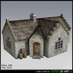 Free Scotish House 3D Model - 3D Model