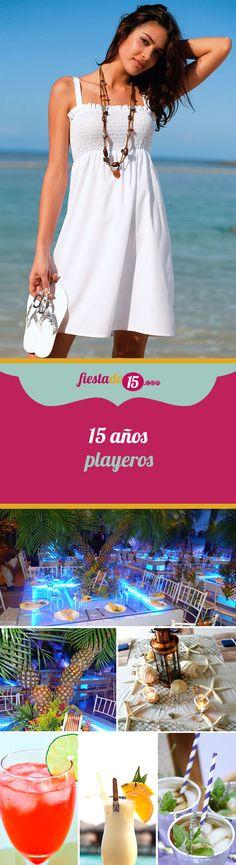 Si tu pasión es el mar, el sol y la arena, adoras la playa y por ese motivo quieres que tu fiesta de 15 años se realice con la temática playera ¡Manos a la obra! Disfruta de tu celebración en un ambiente lleno de sol, arena, palmeras, tablas de surf, pelotas de playa y demás. Deja que tus invitados remonten las olas de tu gran evento y lánzate junto a ellos en un divertido mar de emociones.