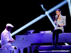 """Jessica Sanchez performs """"Stuttering"""" by Jazmine Sullivan at the Top 7 performance show."""
