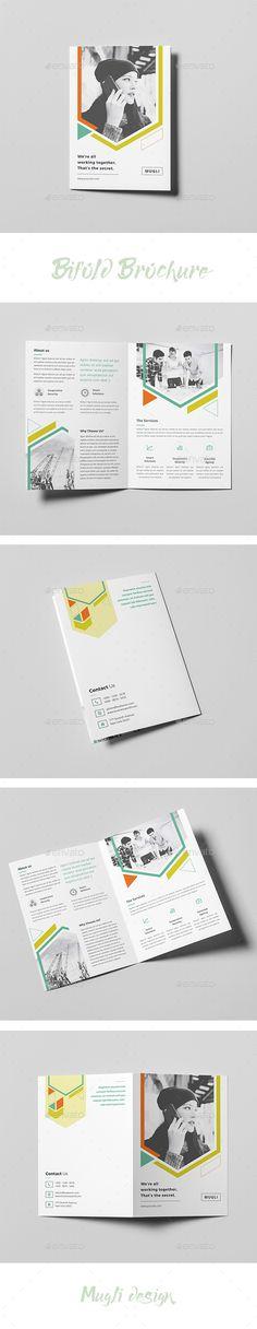 Bifold #Brochure - #Corporate Brochures Download here:  https://graphicriver.net/item/bifold-brochure/20125127?ref=alena994