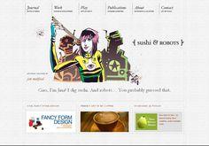 Sushi & Robots - web design