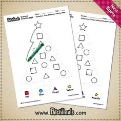 Trace and color this christmas tree, while practicing shapes and colors.  http://www.patchimals.com/resources/z-20  Traza y colorea el árbol de navidad practicando formas y colores. http://www.patchimals.com/recursos/z-20  #patchimals #free #printables #imprimibles #gratis #fichas #worksheets #trazo #grafos #tracing #coloring #printandcolor #colorear #freeresources #freebies #kids #freebie #holidays #ornaments #christmas #navidad #festividades #ornamentos #adornos #diygifts #shapes #colors