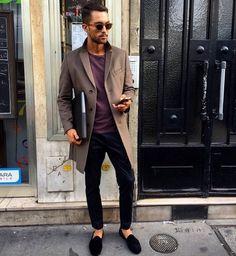 Coat, shoes