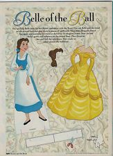 *Belle* Paper Doll - Beauty & the Beast Magazine - by Disney - 1992