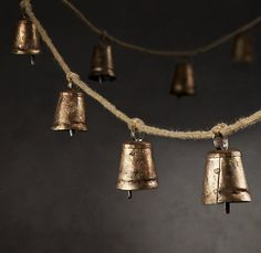 rustic cowbell garland for the holidays