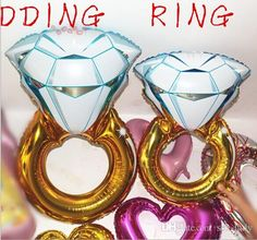 30inch&43inch Ring Balloons Large Diamond Ring Shape Mylar Balloons Party Metallized Balloons Wedding Foil Balloons Helium Balloons Balloons For Events Balloon Sticks From Sex Lady, $37.69| Dhgate.Com