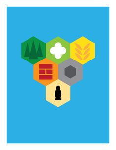 'Name that Game', A Series of Minimalist Poster Designs Inspired by Tabletop Strategy Games