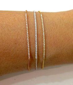 66f4953c6c7a braccialetti di diamanti in oro bianco. Gioielli con diamanti