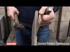 In this video see me prepare slate by splitting or 'riving', in preparation for making a stacked sculpture.