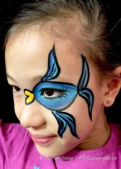 Fish face paint google search face painting quick for Fish eyes in paint