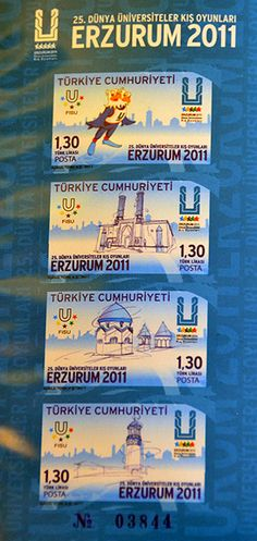 2011 WU in Erzurum (TUR) - Stamps