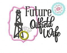 Oilfield Wife Damask  Machine Embroidery Design