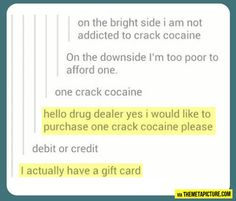 Too poor to afford one…