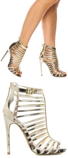 Marnee Strappy Cage Heels ♡