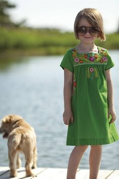 Girls can also show off those wonderful Mexican embroidered dresses. They will shine in any event. Mexican Clothing Girls
