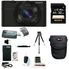 Sony RX100 Digital Camera w/ Point & Shoot Digital Camera Acc Bundle