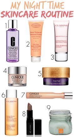 Night Time Skincare Routine via framedfrosting.com #beauty