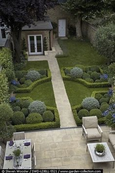 Topiary Hedges - photo by Steven Wooster, via Whimsical Home and Garden