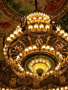 Chandelier at the Opera Garnier.