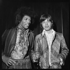 Jimi and a young MIck Jagger