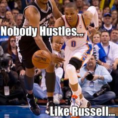 Russell the hustle!