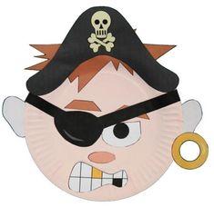 Manualidad con plato de papel el Pirata