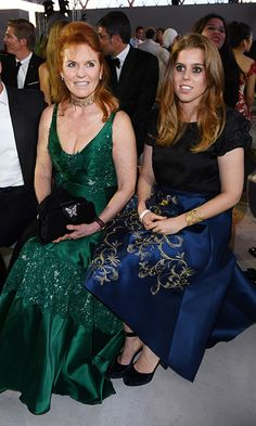 Sarah Ferguson and Princess Beatrice at Fashion For Relief, 70th Cannes Film Festival.  Photo: © Rex