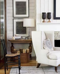 @robertbrownid created this gorgeous space that seamlessly combines traditional and modern farmhouse style! Not to mention the utilization of both horizontal AND vertical #shiplap? So fresh and clever! This room is full of inspiration! Let @dotandbo know what inspires you to #SpoilYourSpace