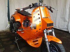 Hot Orange Vespa