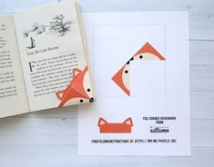These woodland animal origami bookmarks are adorable! Make a DIY origami bookmark out of one piece of paper with 7 free printable origami templates. Origami Design, Diy Origami, Origami Simple, Origami Templates, Origami Fish, Origami Stars, Origami Boxes, Dollar Origami, Origami Ball