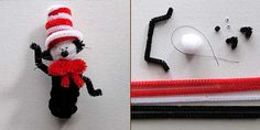 Cat in the Hat Finger Puppet Craft