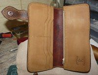 Handmade leather longwallet