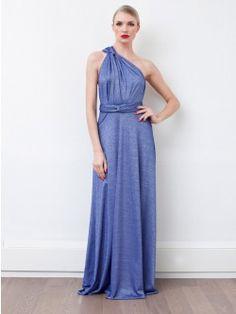 Von Vonni Transformer  Dress - Tropic Cobalt, Long
