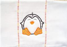 Burp cloth with a cute little black white and by PJSEMBROIDERY, $7.50