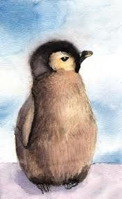 Wonderful Baby Penguin Wallpaper Wallpapers) – Wallpapers For Desktop Penguin Drawing, Penguin Art, Penguin Love, Cute Penguins, Penguin Watercolor, Penguin Tattoo, Pinguin Illustration, Tattoo Painting, Tattoo Art