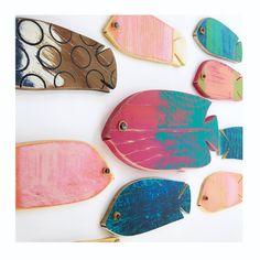 Newest listings . Shop link in bio. Happy Friday . . . . Designs ©MadeByCBK #design #simpledesign #surfacepattern #artisanat #texture #faitmain #madebycbk #schooloffish #tropicalfish #resortstyle #colorascontent #abmlifeiscolourful #summerstyles #marinelife #colorventures #dscolor #folkartist #deco #nurserydecor #nurseryinspo #tropicaldecor #interiorstyling #propstyling